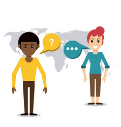 people talking dialog world vector image