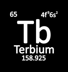 periodic table element terbium icon vector image