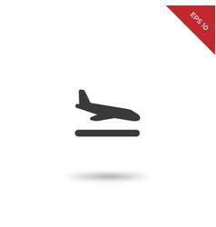 plane landing icon vector image