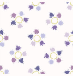 Polka dot painted tie dye daisy bloom background vector