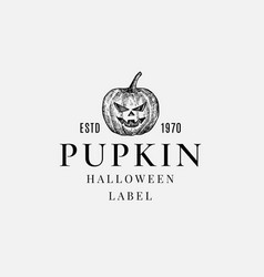 premium quality halloween logo or label template vector image