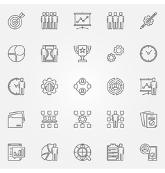 Project management icons set vector image