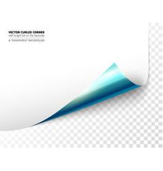 Realistic curled corner vector