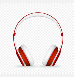 realistic headphone vector image