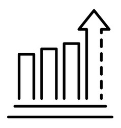 report graph icon outline style vector image