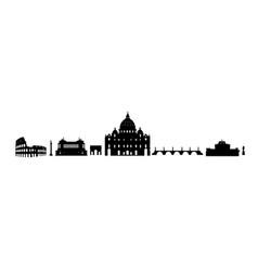 rome travel architectural landark set italian vector image