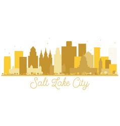 Salt lake city utah usa city skyline golden vector