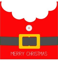 Santa Claus Coat button and yellow belt Beard fur vector image