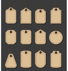 Set craft tags paper labels in vitage style vector