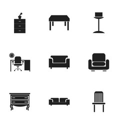 Set of 9 editable home icons includes symbols vector