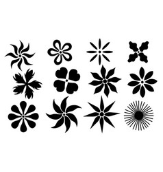 Set of different flowers vector
