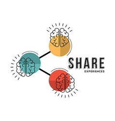 Share experiences line art concept vector