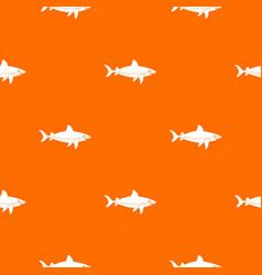 shark fish pattern seamless vector image