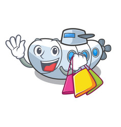 Shopping submarine in the a cartoon shape vector