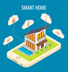 Smart home concept isometric vector