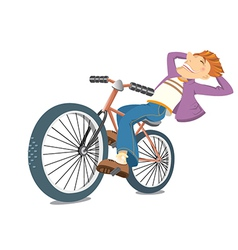 Smiling on bike vector