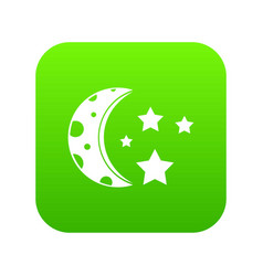 starry night icon digital green vector image