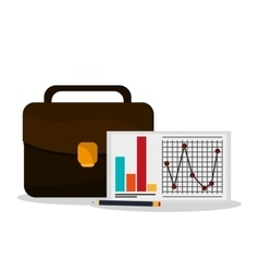 Suitcase infographic and Worktime design vector