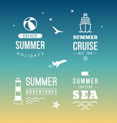 Summer Holidays Design Elements Retro and Vintage vector image