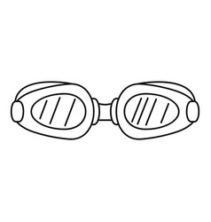 swim glasses icon outline style vector image