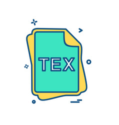 Tex file type icon design vector