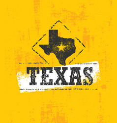 Texas pride rough grunge vector