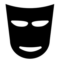 theater mask the black color icon vector image