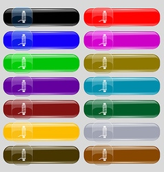 Thread Icon sign Set from fourteen multi-colored vector