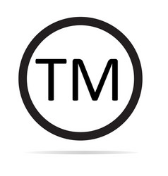 trade mark sign trade mark icon on white vector image