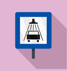 traffic sign car wash icon flat style vector image
