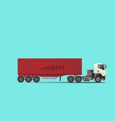 trailer truck tow truck hire cargo vector image