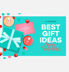 valentines day sale banner best gift ideas sweet vector image