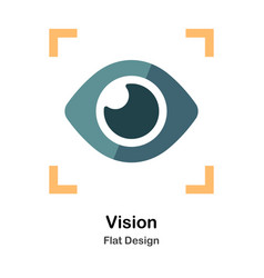 Vision flat icon vector