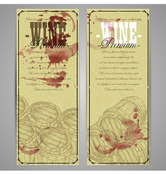 Wine background template vector