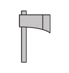 Woodcutter ax isolated icon vector