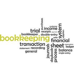 word cloud bookkeeping vector image