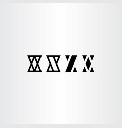 x letters set black icon symbol design element vector image