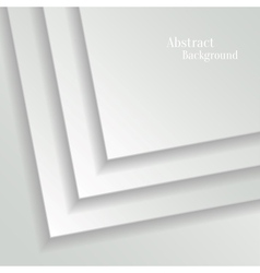 Abstract White Background with Paper Layers vector image