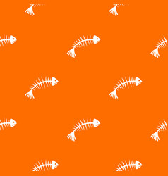 fish bones pattern seamless vector image