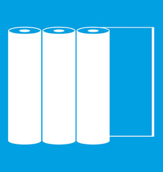 rolls of paper icon white vector image vector image