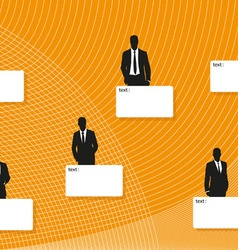 Business men and templates for the text vector image
