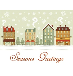 Cute city seasons greetings vector image