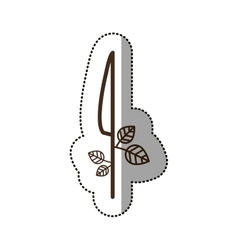 Isolated knife desggin vector image vector image
