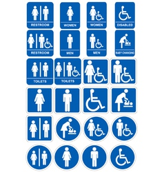 Restroom signs vector image