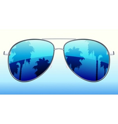 Vector illustration of funky sunglasses with the r vector