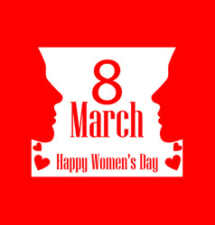 8 march day international womens day banner vector image vector image