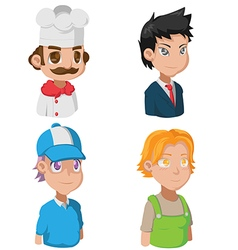 Cartoon Avatar Job Character Cute vector image vector image