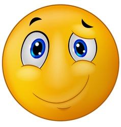 Happy emoticon smile vector image