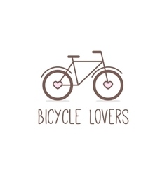 outline cute bicycle logo Bicycle store vector image