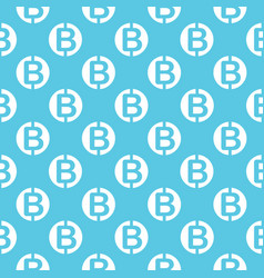 seamless pattern with bitcoins vector image